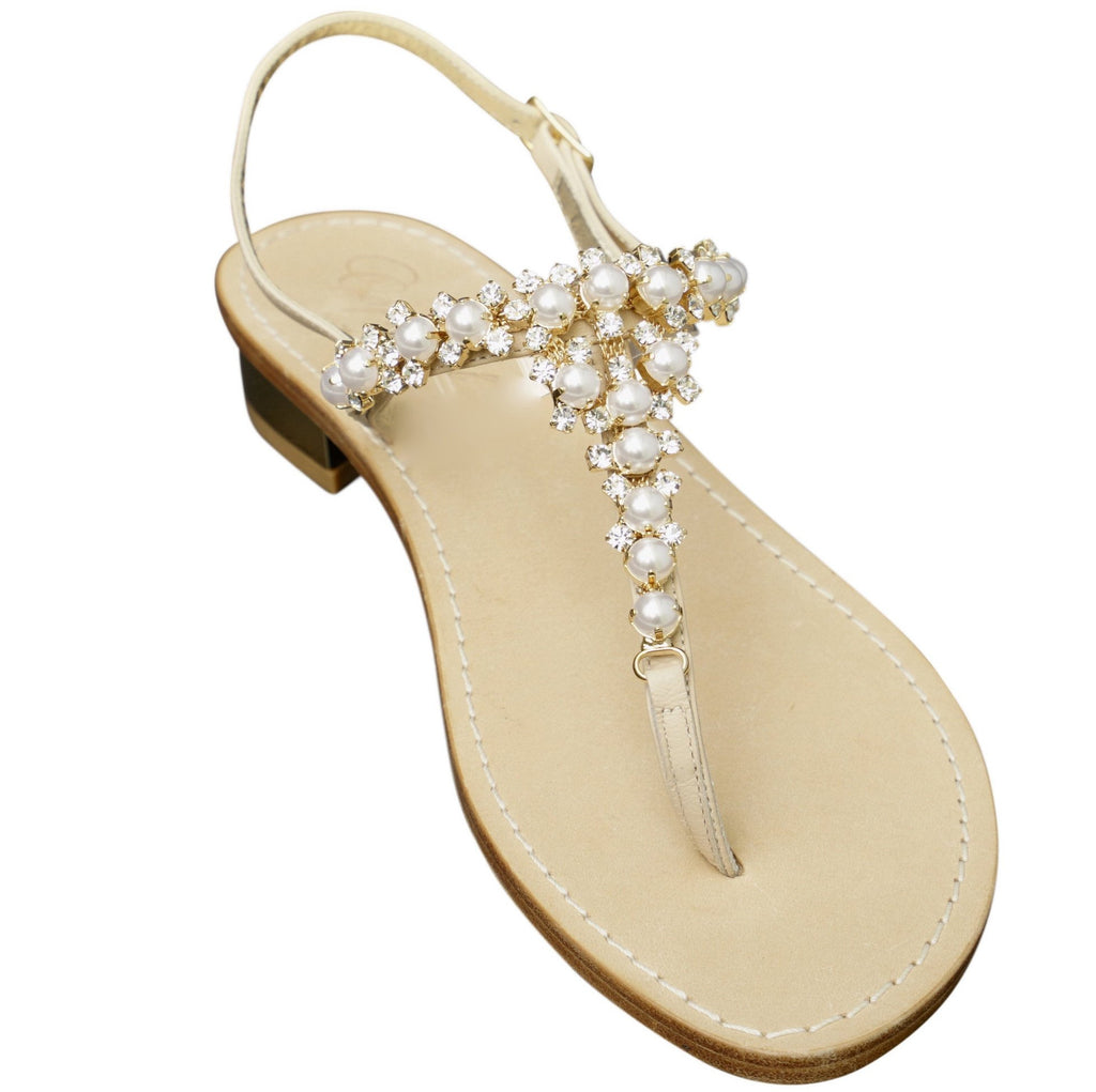 caeab34dc Giada Pearl Capri Jeweled Sandal – Capri Girl Sandals