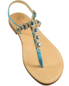 4d8882d89 Tessa Turquoise Capri Jeweled Sandal – Capri Girl Sandals