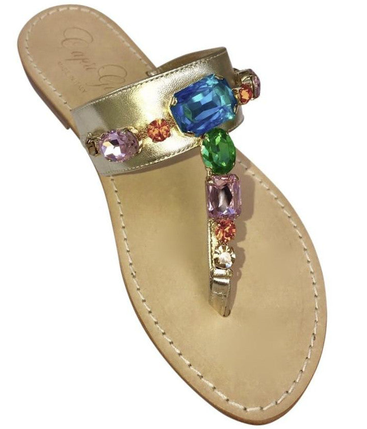 Firenze Slide Jeweled Sandal