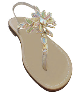 Emma Multicolor Jeweled Capri Sandal
