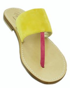 Donna Color Block Slide