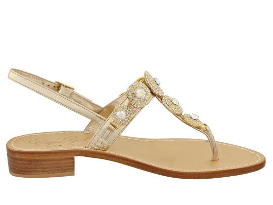 4660b0d66 Pearla Iridescent and Crystal Capri Jeweled Sandal – Capri Girl Sandals
