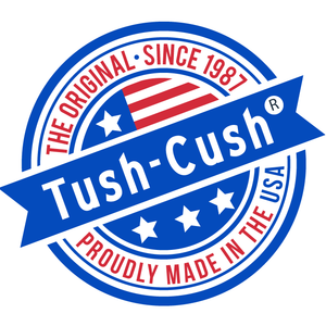 The Original Tush Cush Orthopedic Seat Cushions for Back Pain Logo Made In the USA