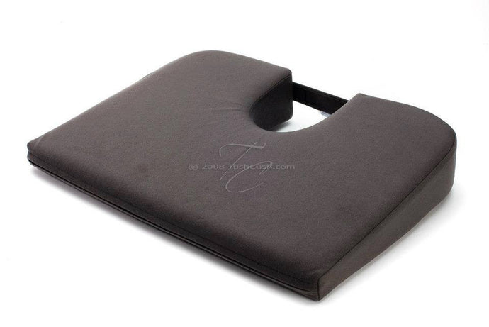 Charcoal Grey Extra Firm Car Cush Orthopedic Seat Cushion for Back Pain