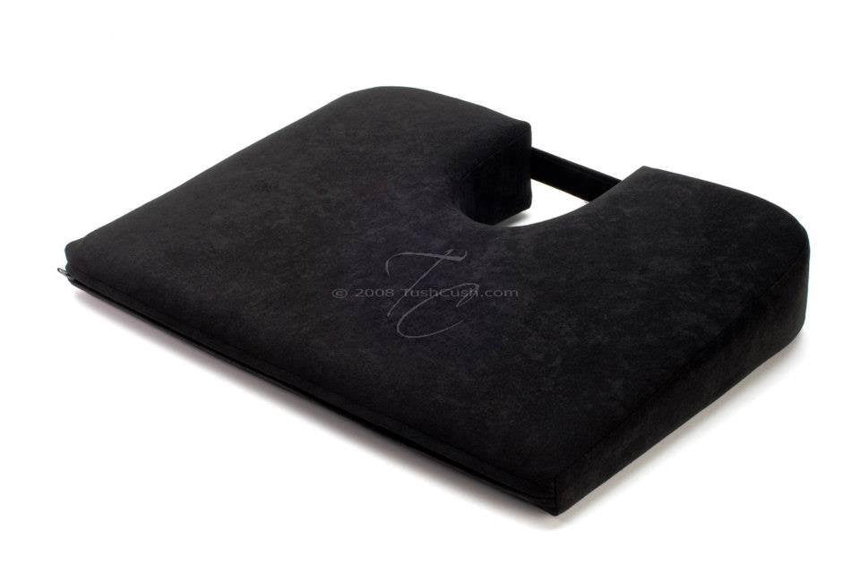 Black Extra Firm Car Cush Orthopedic Seat Cushion for Back Pain