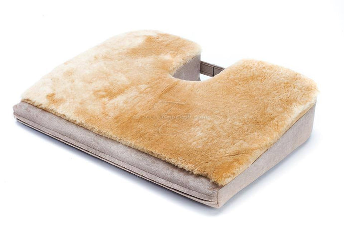 Sheepskin Tush Cush Orthopedic Seat Cushion for Back Pain