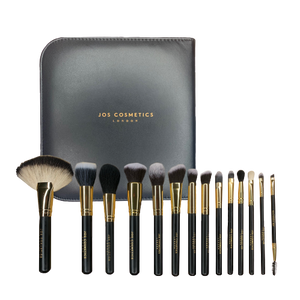 [luxury 14 piece brush set and 3D mink lashes - Joscosmeticslondon