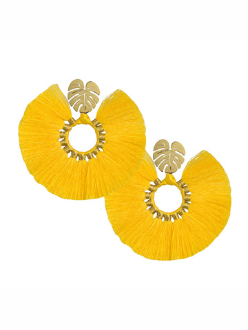 YELLOW WILDFLOWER EARRINGS