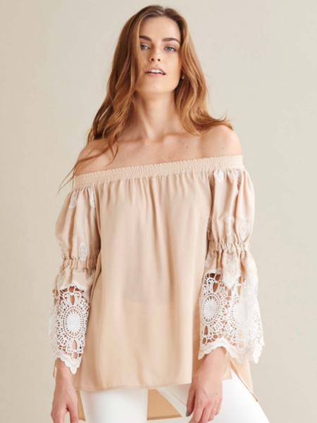 ANGELICA TOP BEIGE