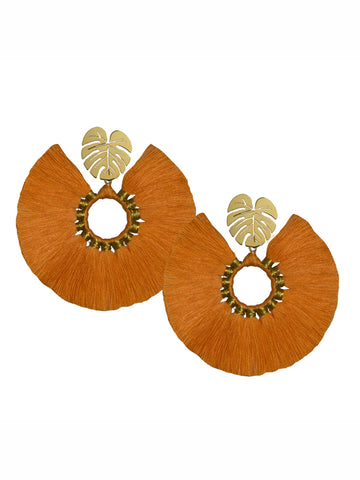 ORANGE WILDFLOWER EARRINGS