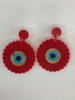 ADINKRA RED EARRINGS