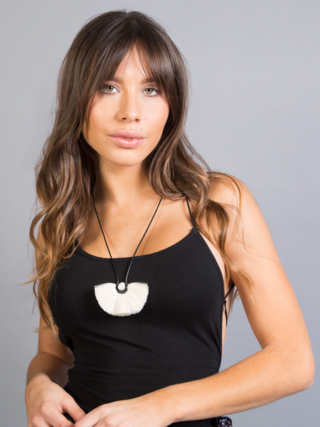 BLACK FLOR TEXCOCO NECKLACE