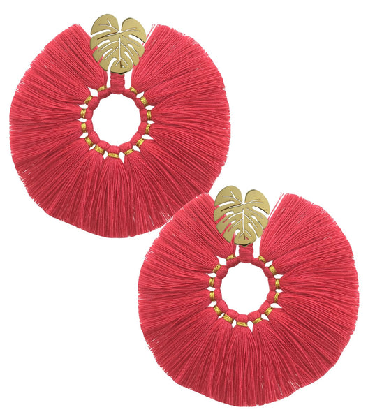 FUCHSIA WILDFLOWER EARRINGS