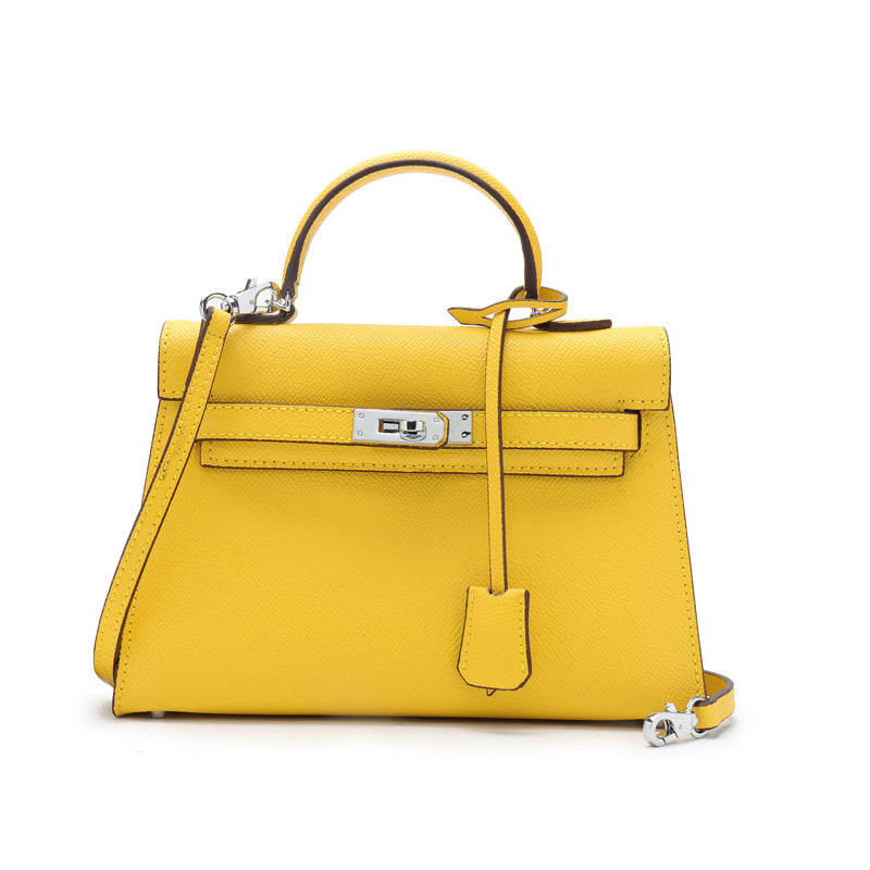 Ava Faux Leather Mini Handbag Yellow