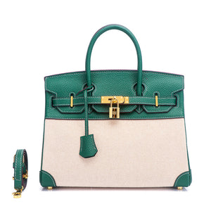 Chloe Canvas & Leather Padlock Handbag - 25 cm & 30 cm