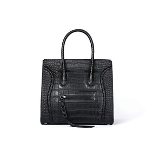 Gladys Croc Embossed Leather Tote