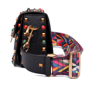 Jazz Rockstud Leather Shoulder Bag