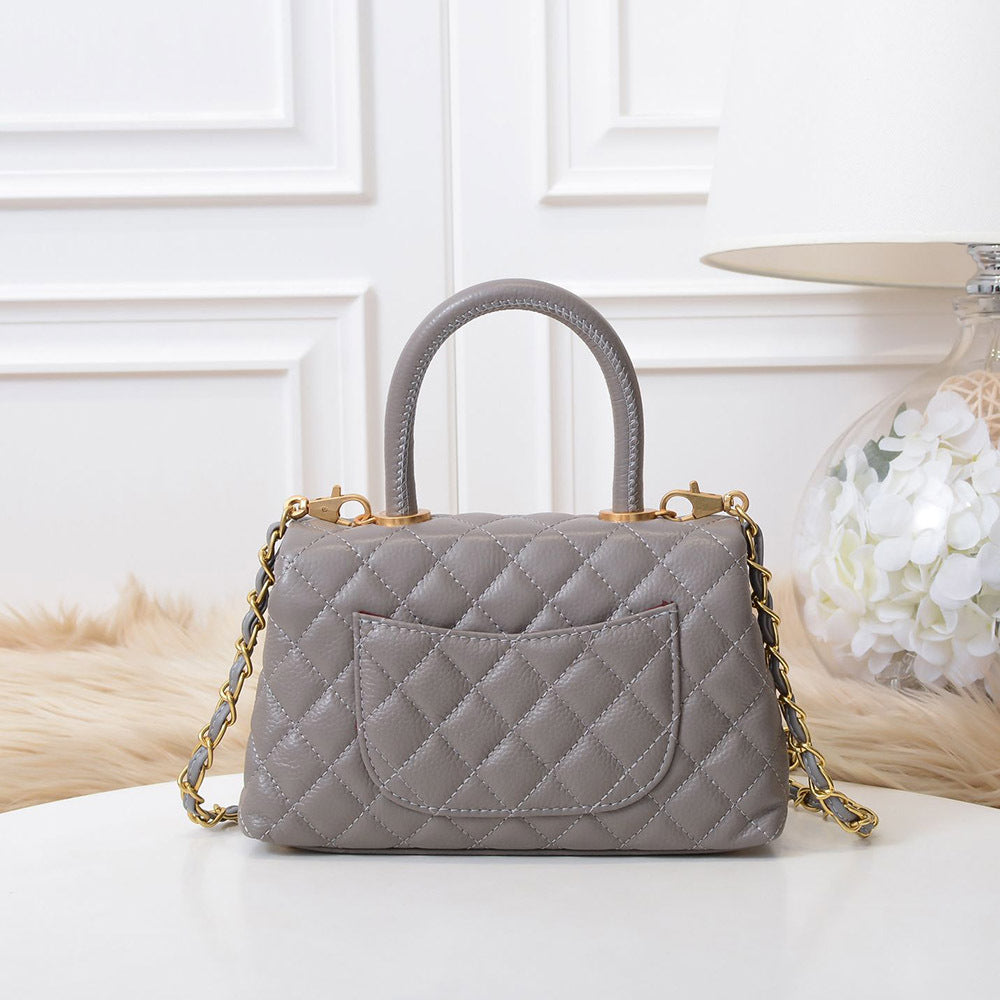 Katy Quilted Top Handle Bag