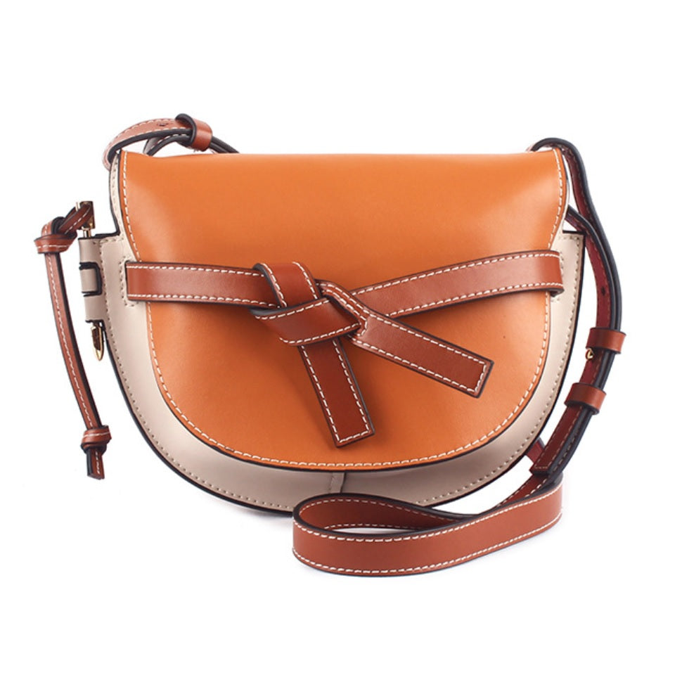 Nicole Half Moon Leather Saddle Bag