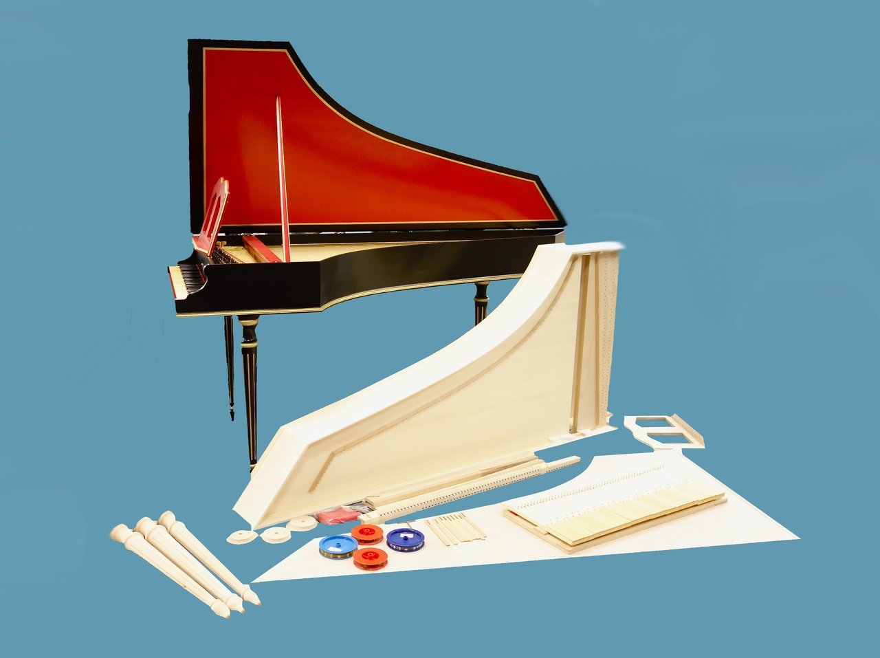 Everything you need to know about building a Bizzi harpsichord kit