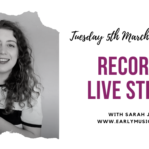 EMS Live stream with Sarah Jeffery: Q&A on mid-price recorders