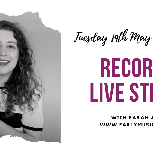 EMS Live stream with Sarah Jeffery: Tenor Recorders & Comfort Tenors