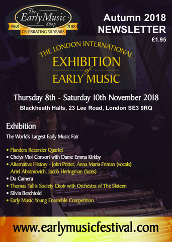 Early Music Shop Newsletter Autumn 2018