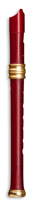 Mollenhauer Dream Soprano Recorder Red Glitter Double Holes