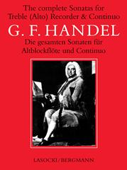 Handel: The Complete Sonatas for Treble Recorder and Continuo