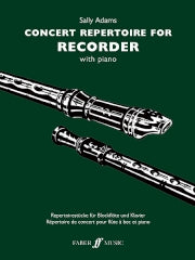 Adams (ed.): Concert Repertoire for Recorder with Piano
