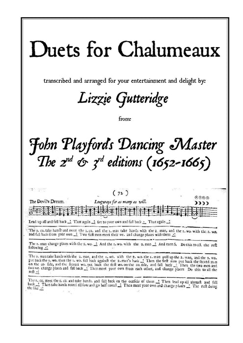 Duets for Chalumeau - Book of Tunes transcribed for your entertainment by Lizzie Gutteridge