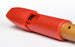 Mollenhauer Prima Soprano Recorder in Red Plastic and Pearwood