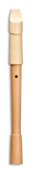 Mollenhauer Prima Soprano Recorder in Beige Plastic and Pearwood
