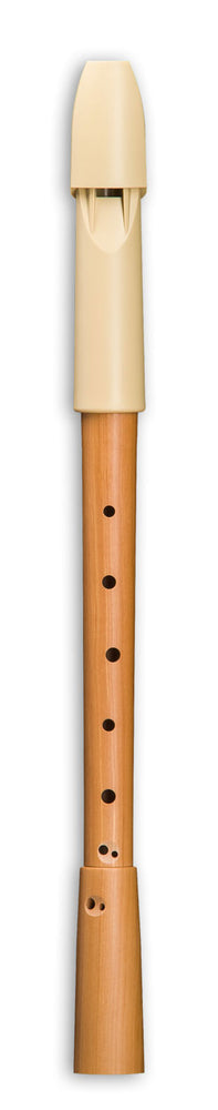 Mollenhauer Prima Alto Recorder in Beige Plastic and Pearwood