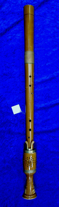 3736S Moeck Renaissance Bass Recorder in F in maple with original case and in reasonable condition.