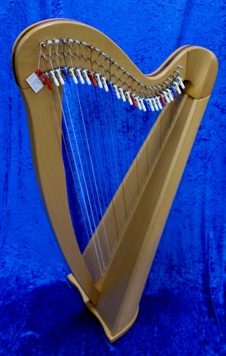 3807S EMS 27 String Heritage Harp in Beech with tuning key and padded bag - in very good condition