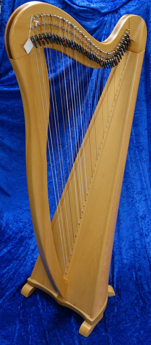 4028S EMS 38 String Heritage Harp in Beech with tuning key and padded bag - in very good condition