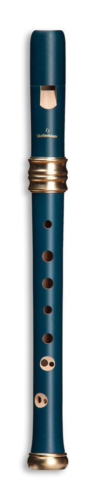 Mollenhauer Dream Soprano Recorder Pearwood Blue Double Holes