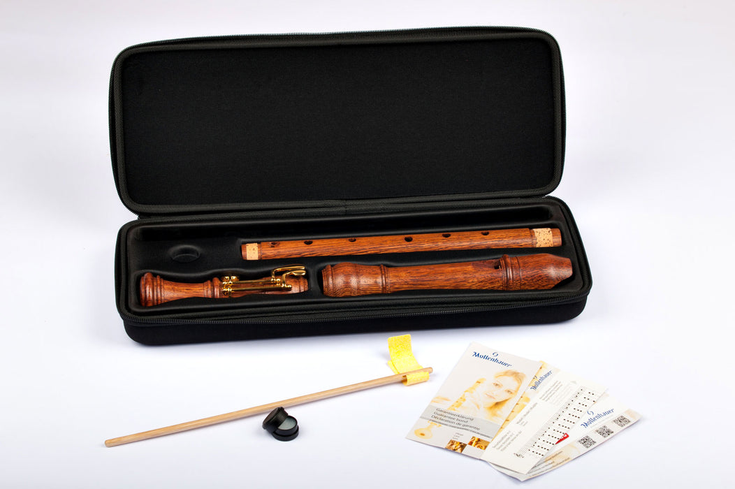 Mollenhauer Denner Tenor Recorder with Double Key in Palisander