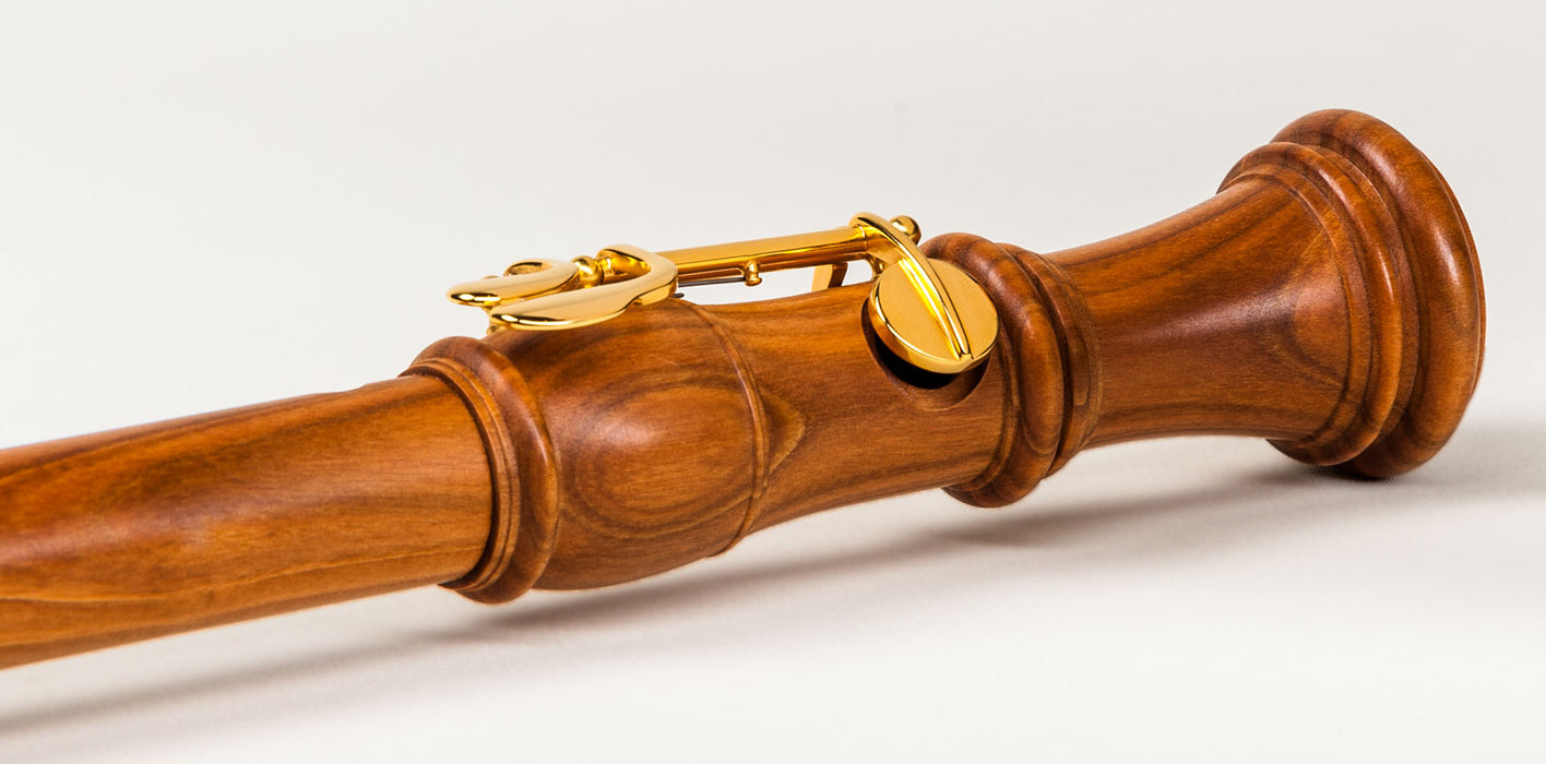 Mollenhauer Denner Tenor Recorder with Double Key in Cherrywood