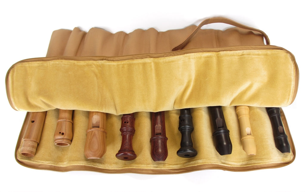 9-Slot Recorder Roll Bag by Kung