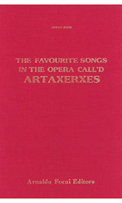 Hasse: The Favourite Songs In The Opera Call'D Artaxerxes