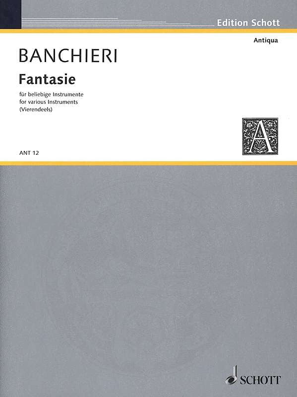 Banchieri: Fantasie overo canzoni alla francese for 4 Instruments