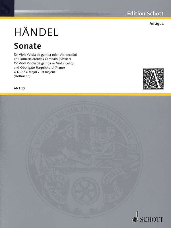 Handel: Sonata in C Major for Viola and Obbligato Harpsichord