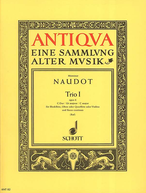 Naudot: Trio in C Major for Recorder, Oboe and Basso Continuo