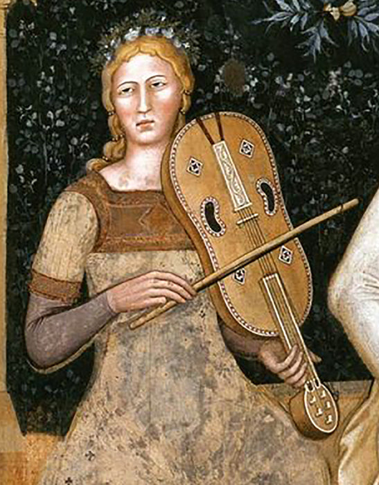 Medieval Fiddle after a 14th Century Fresco by Roberto Montagna