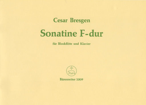 Bresgen: Sonatina Op. 18/1 for Descant Recorder and Piano