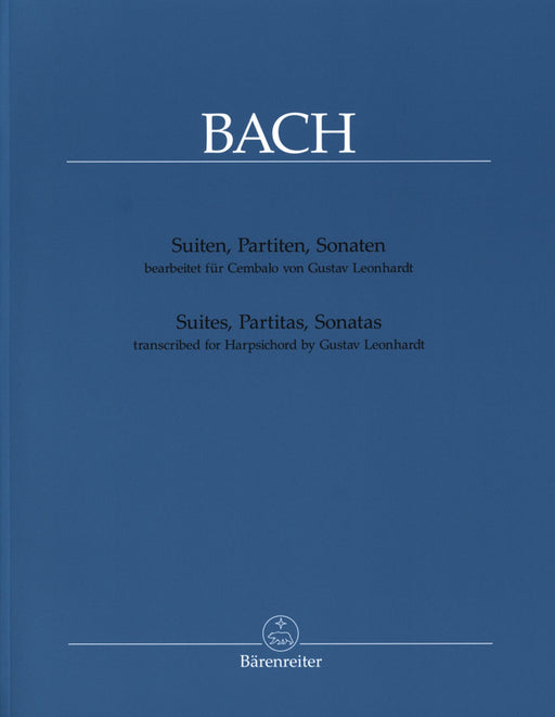 Bach: Suites, Partitas, Sonatas transcribed for Harpsichord by G. Leonhardt