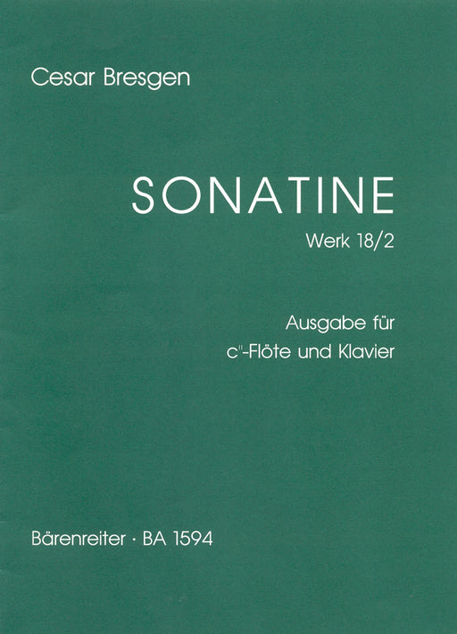 Bresgen: Sonatina in F Major for Descant Recorder and Piano