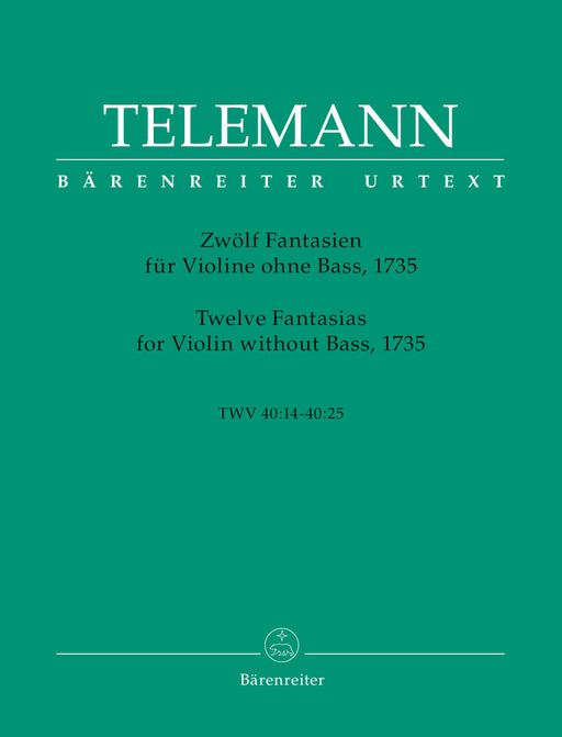 Telemann: 12 Fantasias for Violin without Bass (1735)